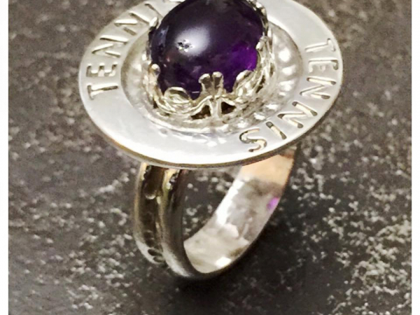 Color Changing Amethyst Sterling Silver Handcrafted Ring