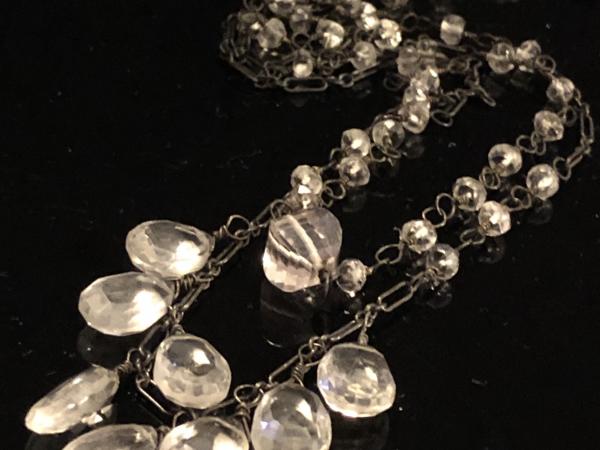 Quartz Crystal Double Strand Necklace
