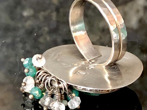 Chrysocolla Sterling Silver Gemstone Fringe Size 8.5