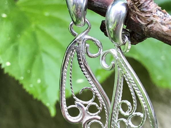 Earrings Argentium Silver Fine Silver Silversmith Jewelry