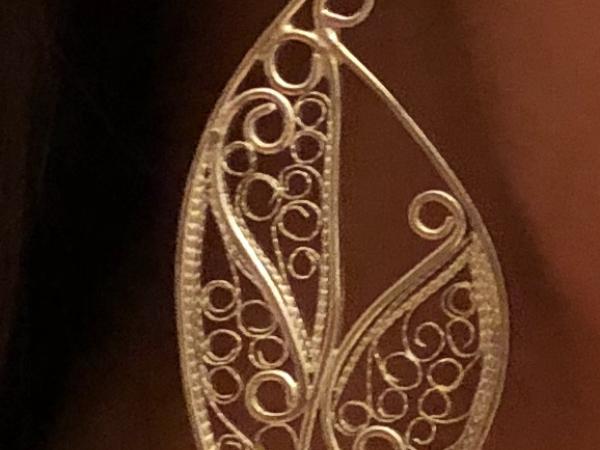 Kimberly modeling new earrings
