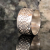 Band of Hearts Argentium Silver Wide Band