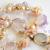 Pink Sea Petals Pearls Moonstone Amethyst Rose Quartz Wedding Necklace
