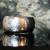 Argentium Hammered Domed Band
