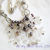 Snowflakes & Pearls Crystal Necklace Freshwater Pearls Statement Necklace