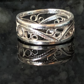 Argentium Silver Filigree Band Argentium Silver Wide Band Silversmith Jewelry Ri