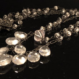 Quartz Crystal Double Strand Necklace