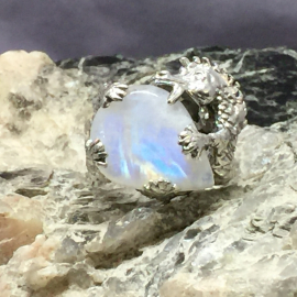Rainbow Moonstone Dragon Front