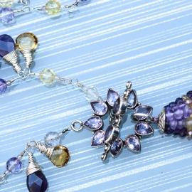 Amethyst Rain Citrine & Ametrine Necklace Handmade