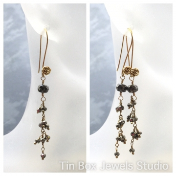 SOLD Earrings Pyrite Dreams Simple Elegance Collection - Dangle Earrings Bridal Party Trendy